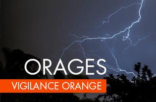 Alerte orange orages